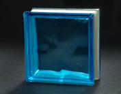 cloudy blue glass block