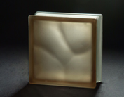 acid brown cloudy glass block