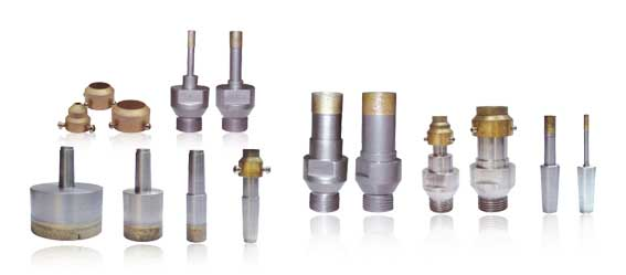 The  drill bit for  the glass intensive processing uses