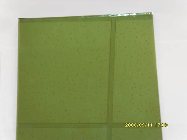 reflestive green glass