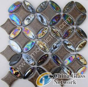glass mosaic,shell mosaic tile wall and floor