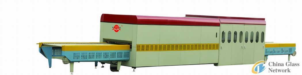 Glass tempering machine