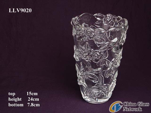 c;ear glass vase LLV9020