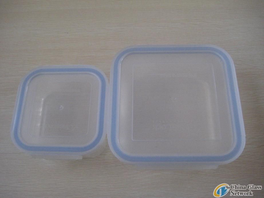Heat-Resisitant Glass Suqare Food Stroage Containers With Lid