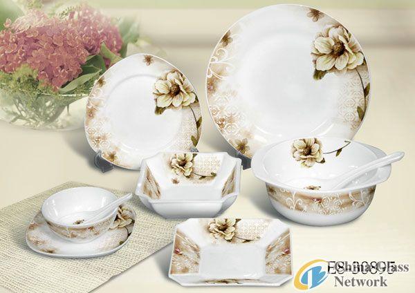 28pcs opal glassware