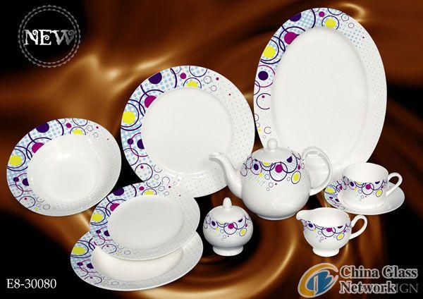 45pcs opal glassware
