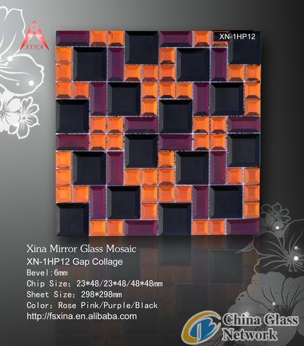 Fashion Wall Decoration Material-Mirror Mosaic-XN-1HP12