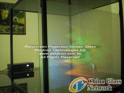 Polyscreen™ Glass--Screen Film- display image in transparent glass