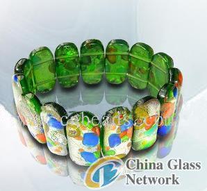 murano glass stone bracelet