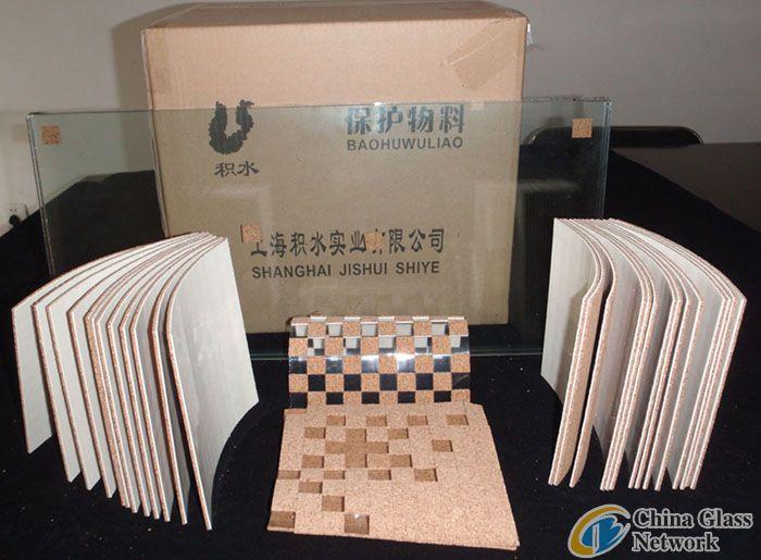glass shipping cork pads