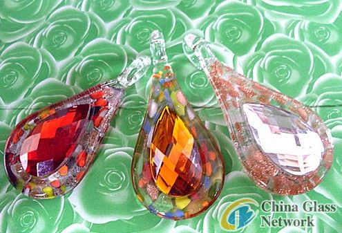 murano stone glass pendant