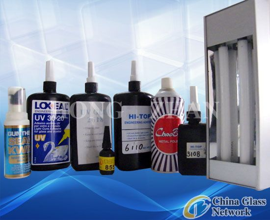 UV glue & UV lamp