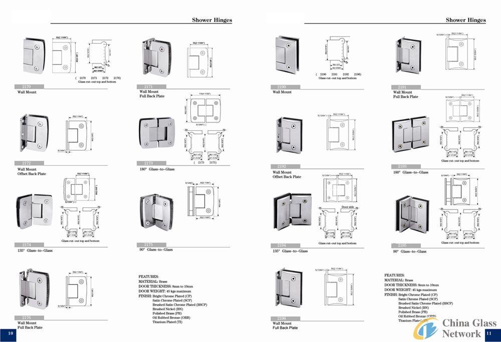 hinges for glass doorwindow shower room02