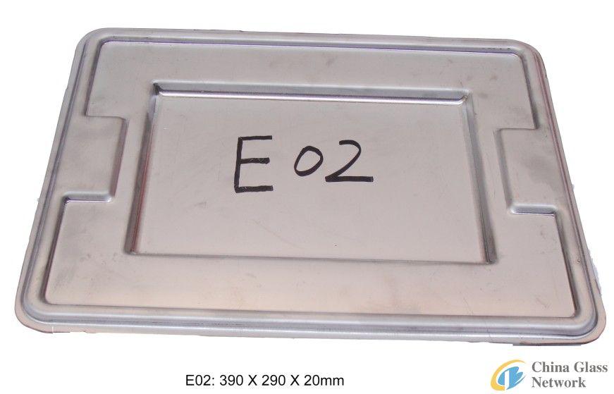 Glass plate mould E02