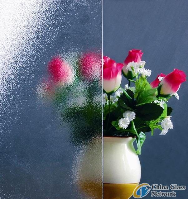 Clear Nashiji Patterned Glass