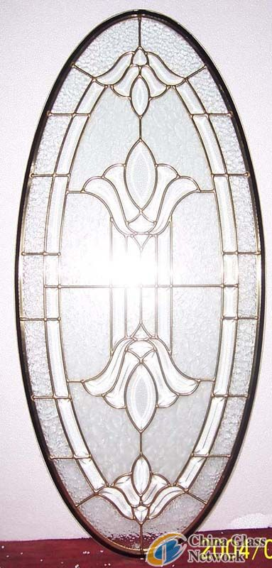 triple panels decorative glass