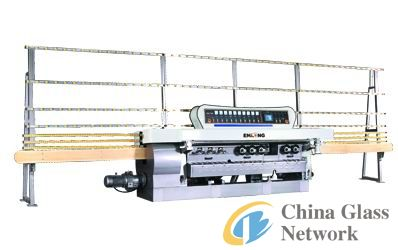 Glass straight-line beveling machine 9Spindles
