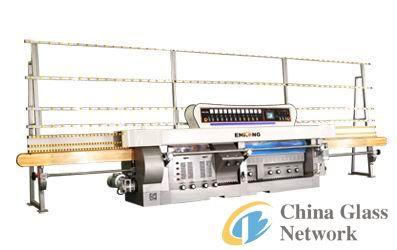 Glass straight-line miter edging machine/glass45 degree machine 11Spindles