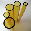 yellow borosilicate glass tube