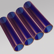 dark blue borosilicate glass tube