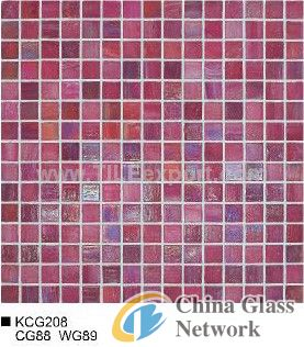 Golden Line Glass Mosaic Tiles