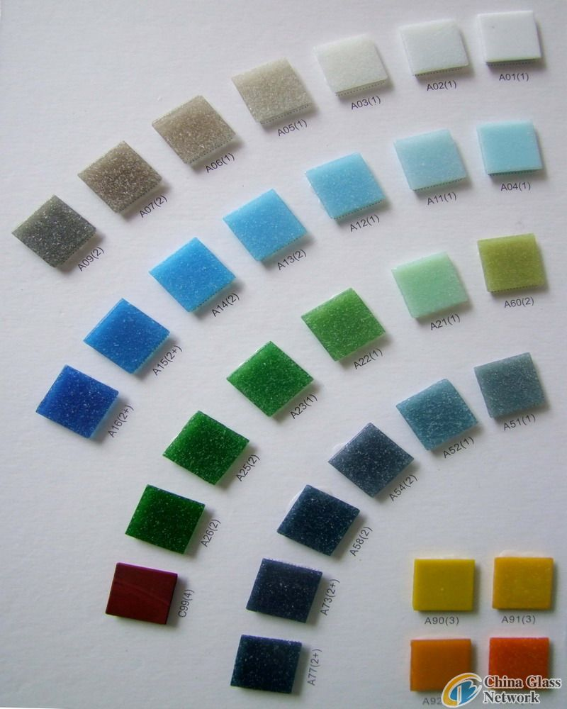 fuxible glass mosaic