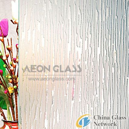 Deep Acid Etched Glass, Glass Etched