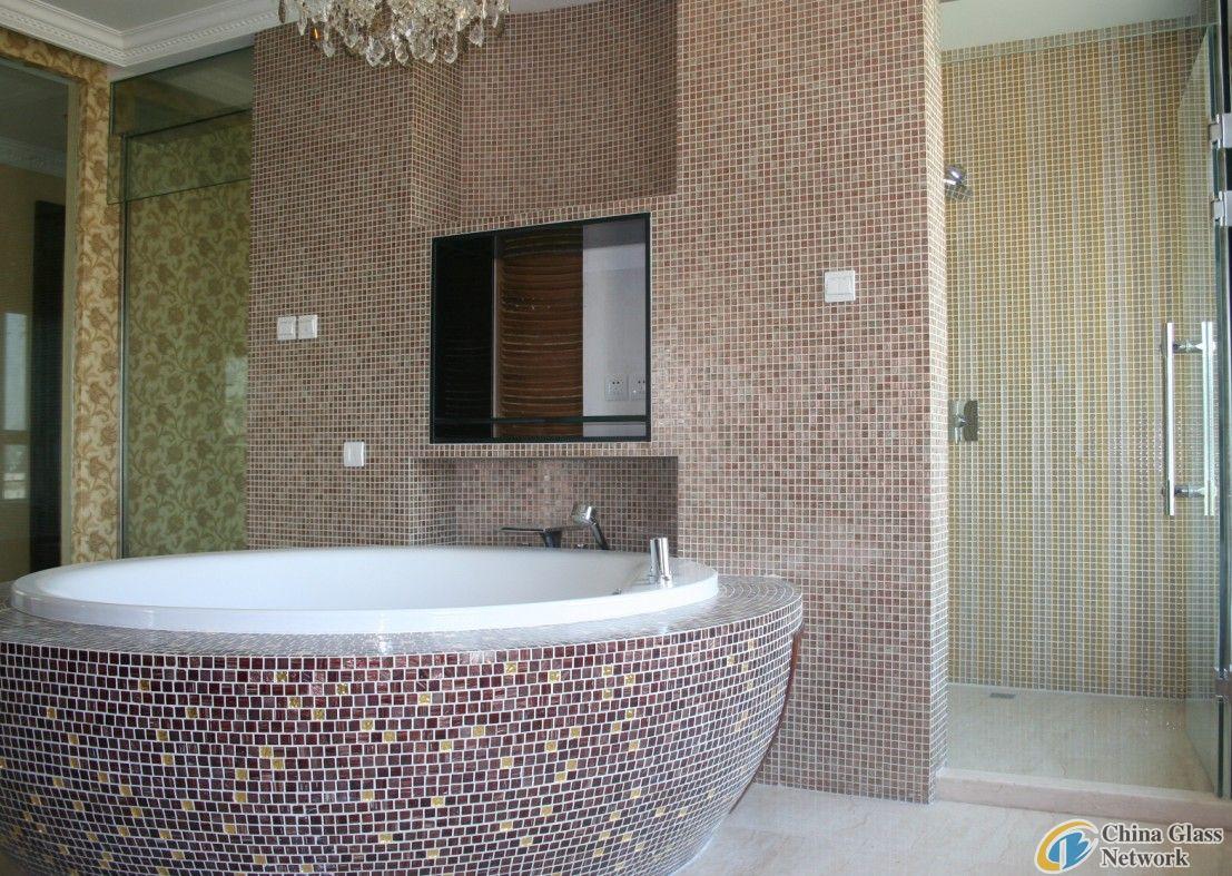 swimming pool glass mosaic