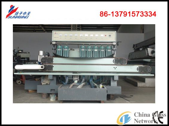 YMC251 Straight Edge Glass Beveling Machine With 8 Spindles