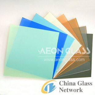4mm-10mm Bronze, Grey, Blue, Green and Pink Reflective Glass with CE & ISO certificate