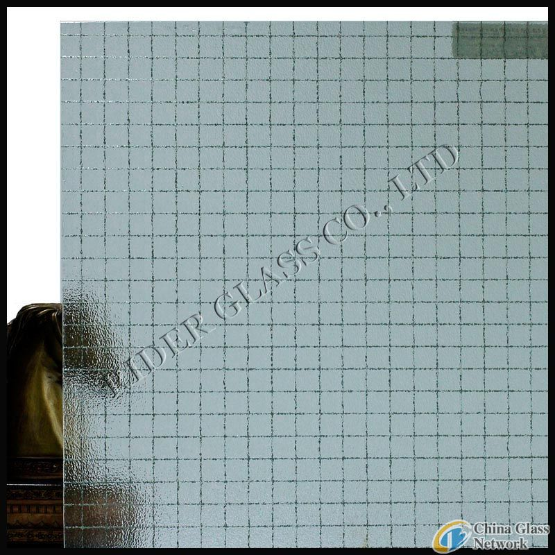 6mm Clear Nashiji Wired Glass with CE & ISO9001