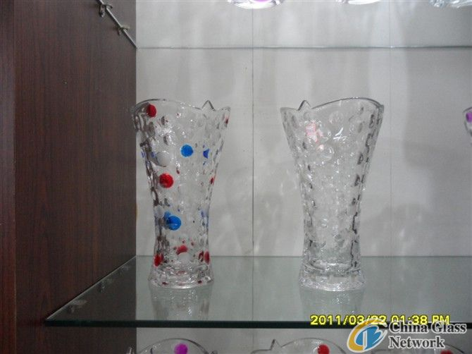 Round Dot Glass Vase