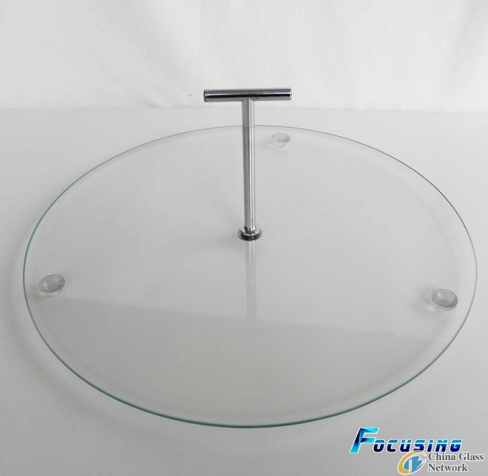 Practical 1-tier tempered clear glass cake stand