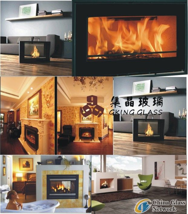 ceramic glass fireplace glass flameproof glass