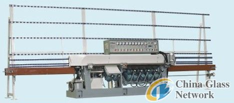 VZM9B-45° 9 motors glass multilevel edging machine