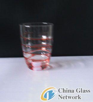Colored spun glass glass
