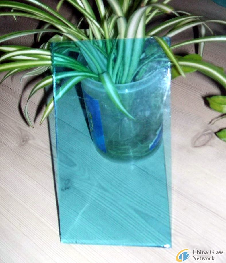 Ocean blue float glass