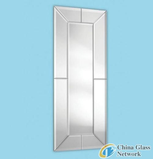Long Glass on Glass Mirror - Bevelled