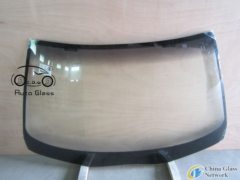 Transparent automobile glass with various kinds of models