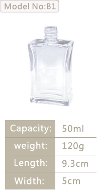 Perfume Bottle Cosmetic Bottle B1 50ml with clear colour