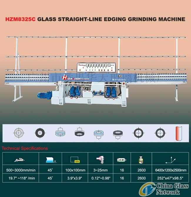 HZM8325C Glass straight-line edging grinding machine Glass machine
