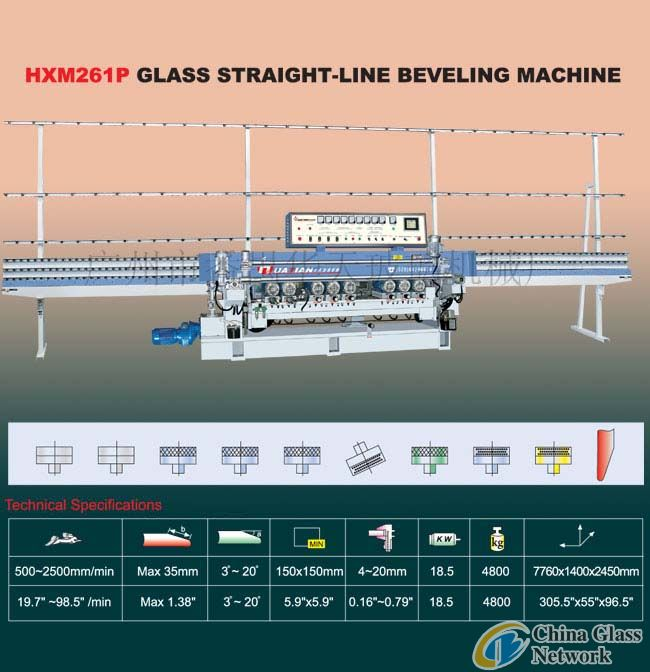 HXM261P Glass straight-line beveling machine Glass machine