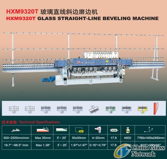 HXM9320T Glass Straight-Line Beveling Machine