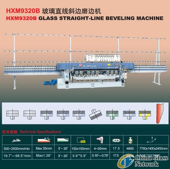 HXM9320B Glass Straight-Line Beveling Machine