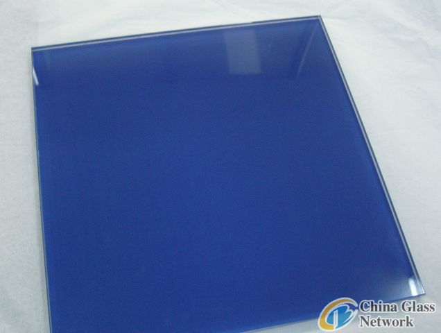 Blue printing glass