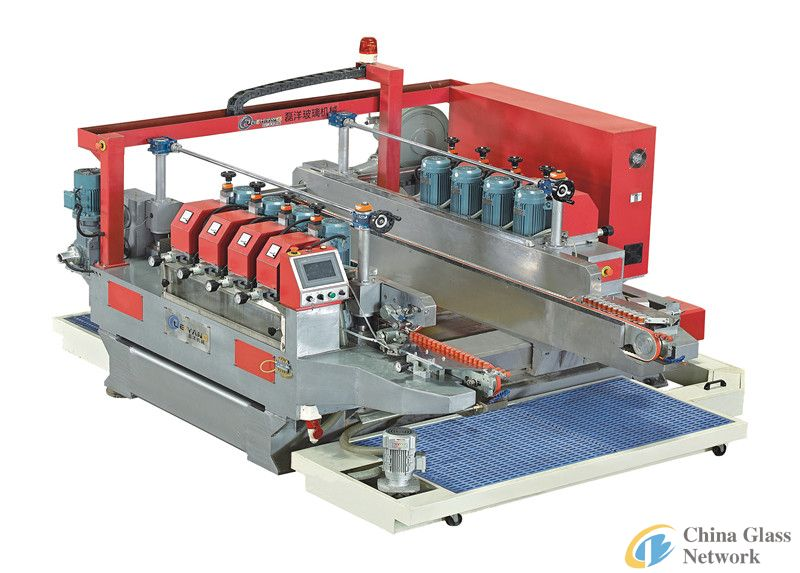 Round glass edging machine