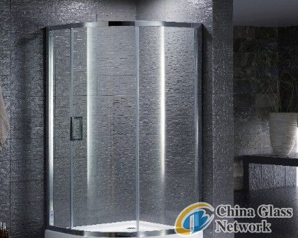 Bend Tempered Bath Room Glass