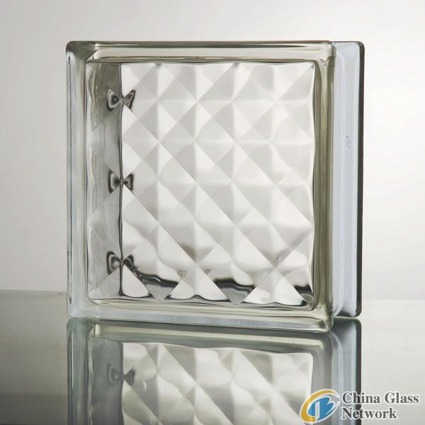 Clear hollow glass block