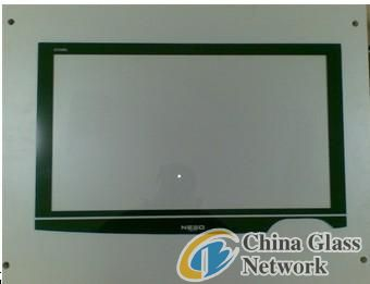 Glass panel for electronical production