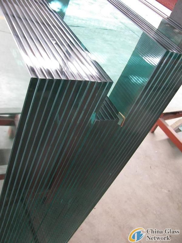clear tempered/toughened building glass